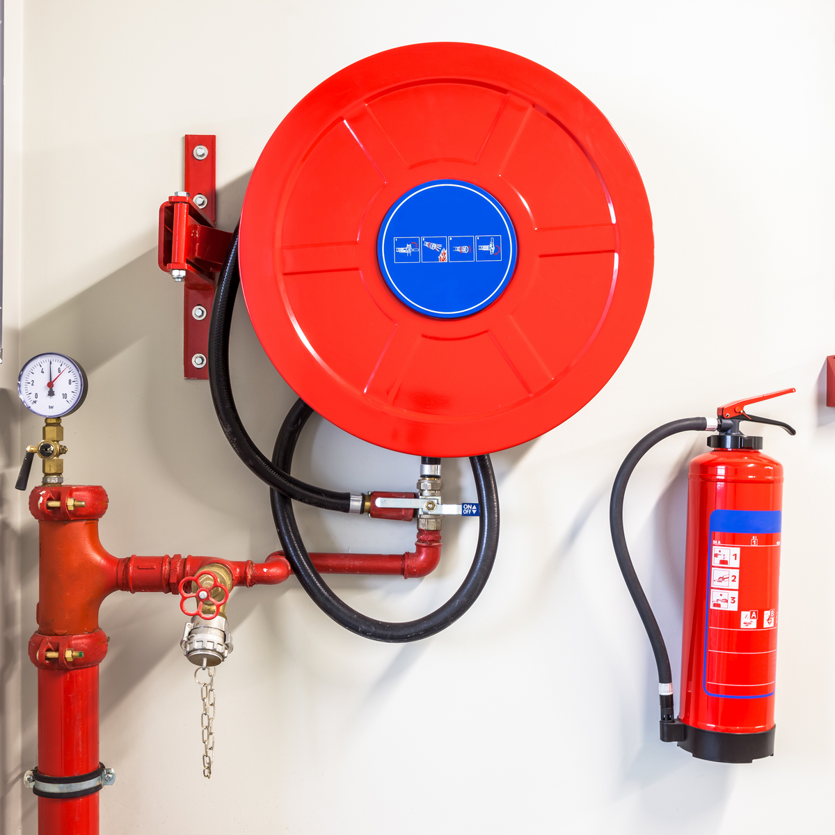 Glow Fire Protection hose reels and hydrants